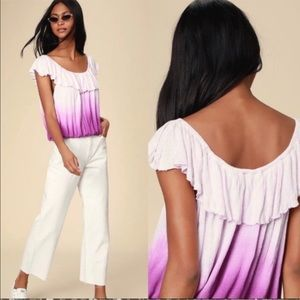 Free People Cora Lee Off The Shoulder Ombre Shirt